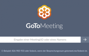 1. Öffnen Sie app.gotomeeting.com