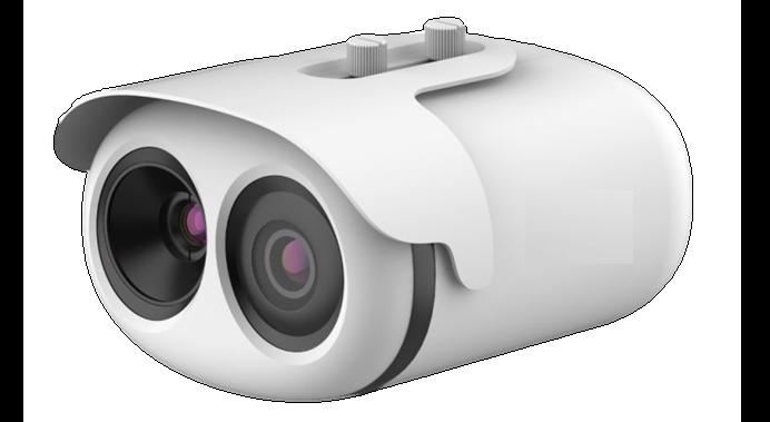 Caméra de fièvre en gros plan