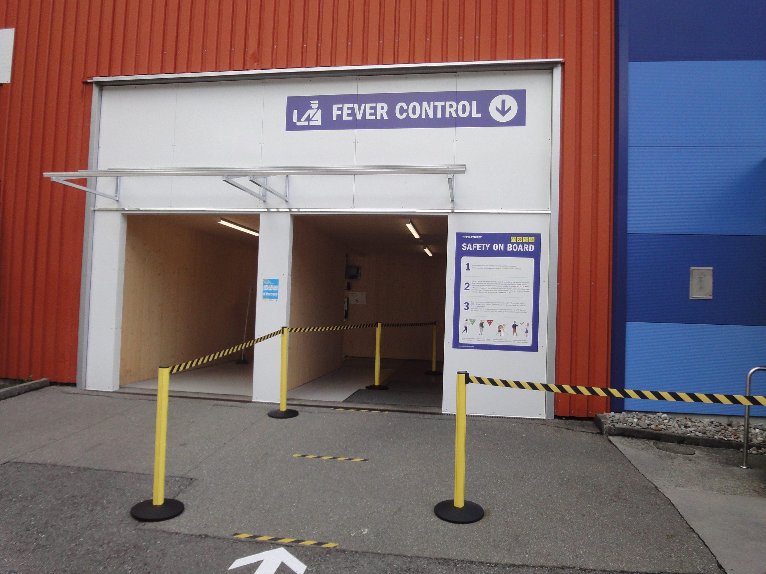 Entrance fever control Pilatus Flugzeugwerke AG
