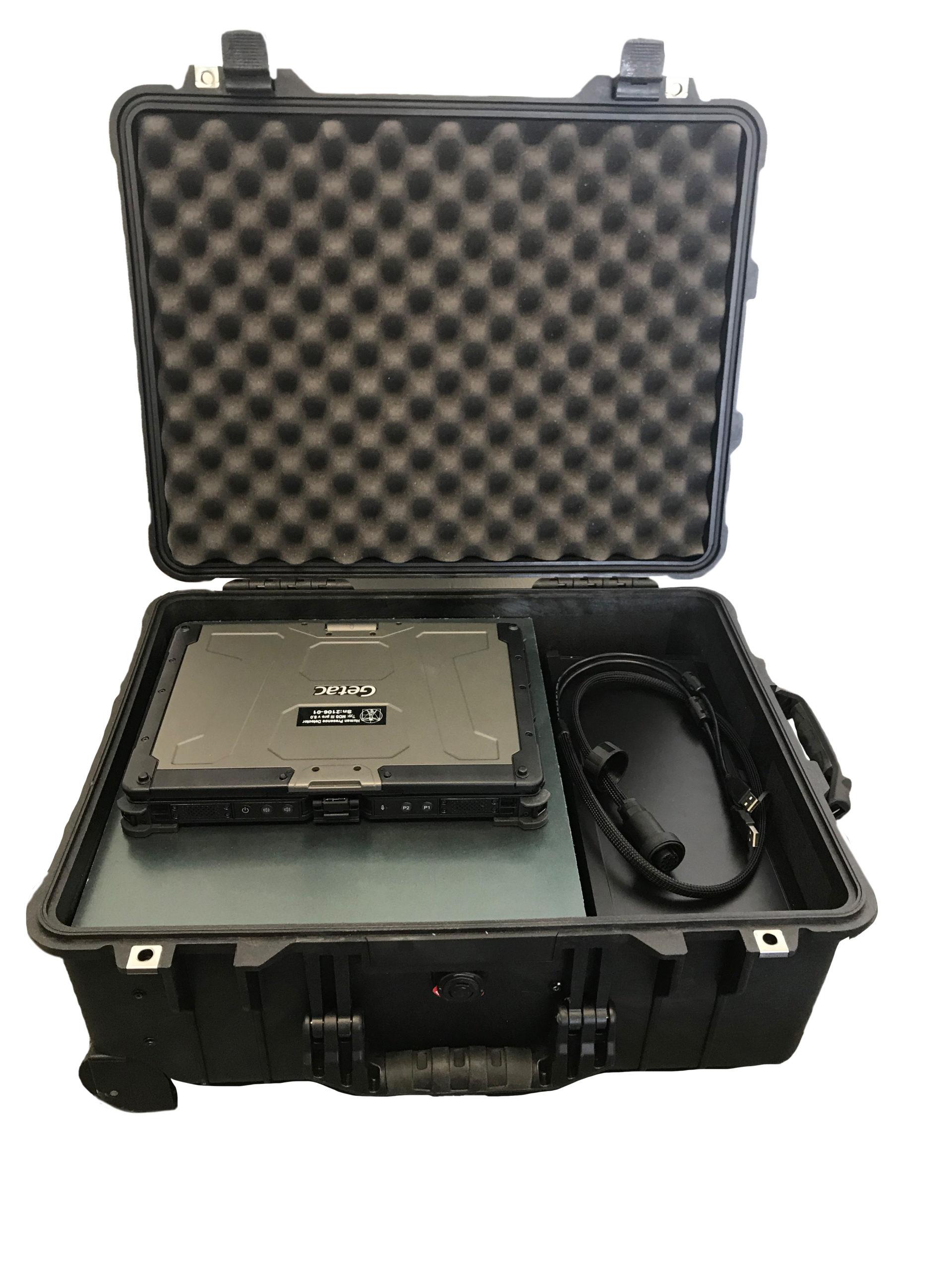 MDS Portable Koffer offen mit Inhalt